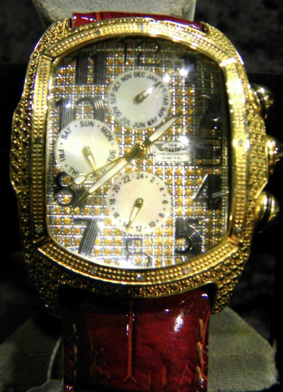 Ice Master Men's Diamond Encrusted Watch