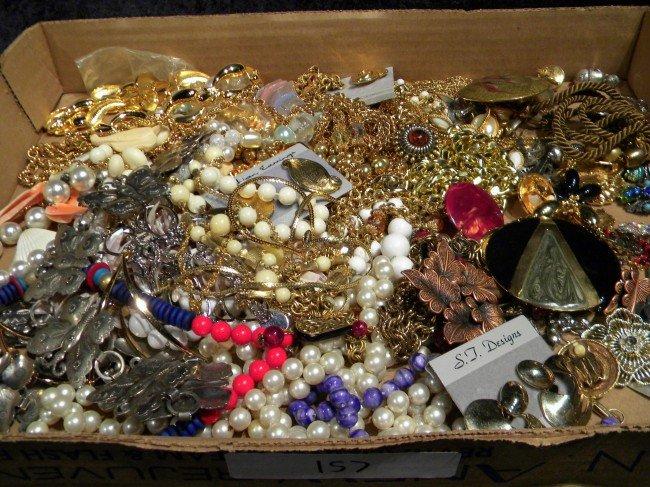 Lg Lot of Costume Jewelry, w/ Designer Pcs