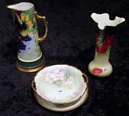 4 Porcelain Items - Tankard, Vase, Plate, etc
