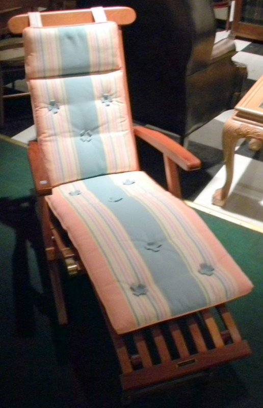 Queen Elizabeth Cruise Ship Deck Chair