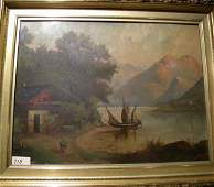 Antique Oil on Board Painting Signed ALB. H. Bertrym 99