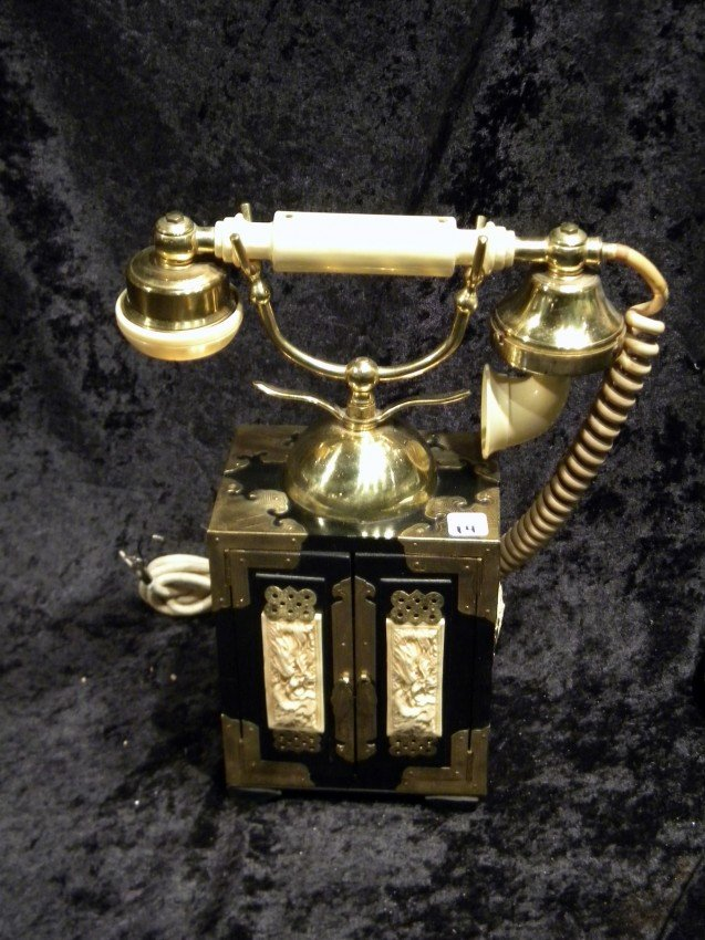 Ornately Decorated Oriental Style Telephone