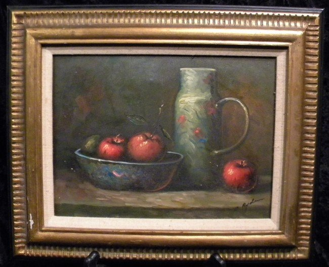 Framed Oil on Canvas, Still Life, Signed C. Ryders