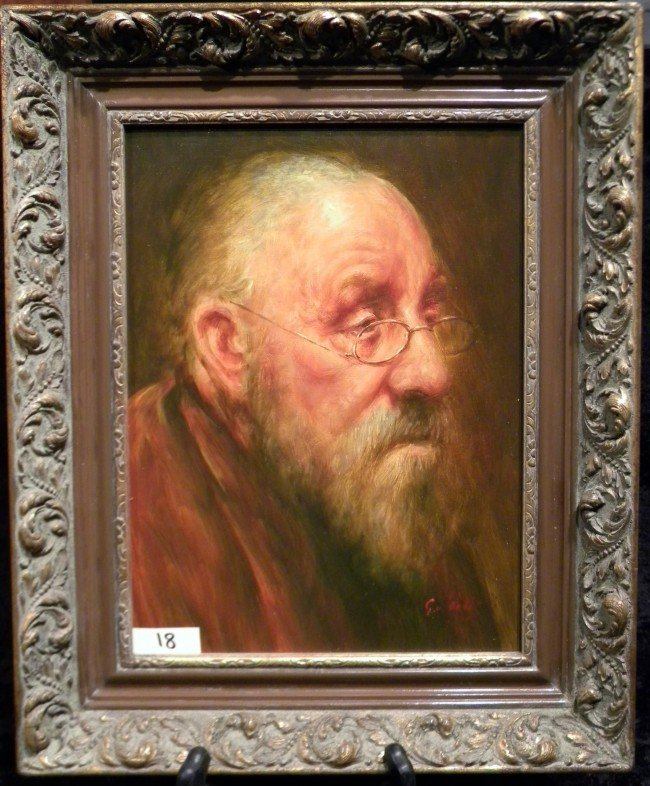 G. Van Pelt Oil on Canvas Portrait, Framed