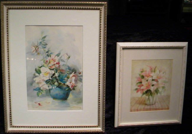 Floral Watercolor Signed Sturdevant & Print