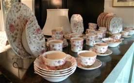 "79 Pcs Johnson Bros ""Rose Chintz"" Pattern Dinnerware"