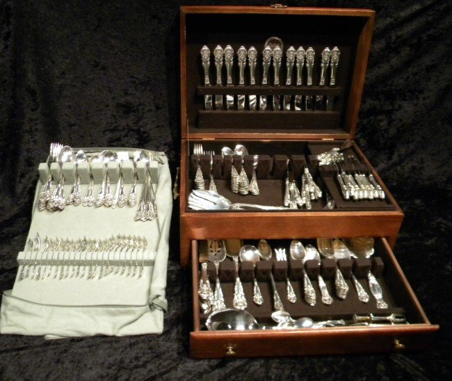 "148 Pcs Wallace Sterling ""Sir Christopher"" (138pcs)"