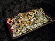Lot of Vintage Costume Jewelry incl Designer Pcs