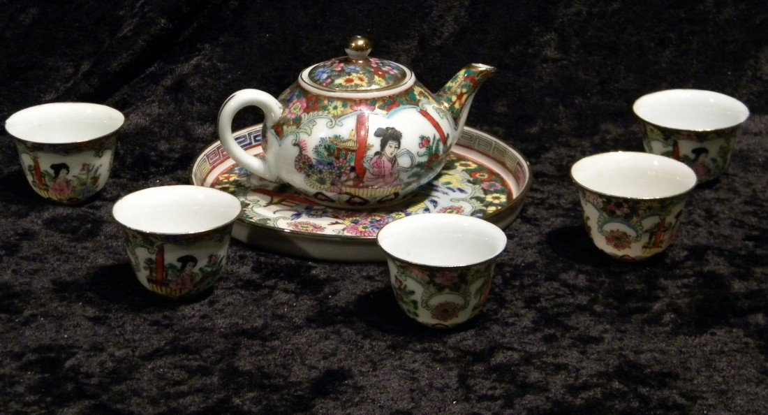 Miniature Oriental Porcelain Tea Set