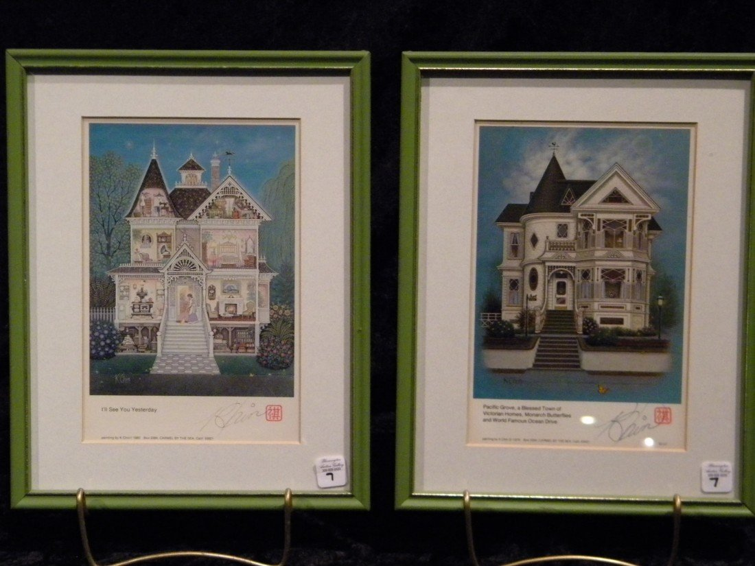 Two Framed & Signed Prints by K. Chin