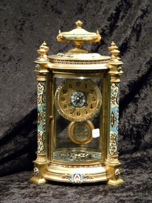 Antique French Japy Freres 8-day Bronze Mantel Clock