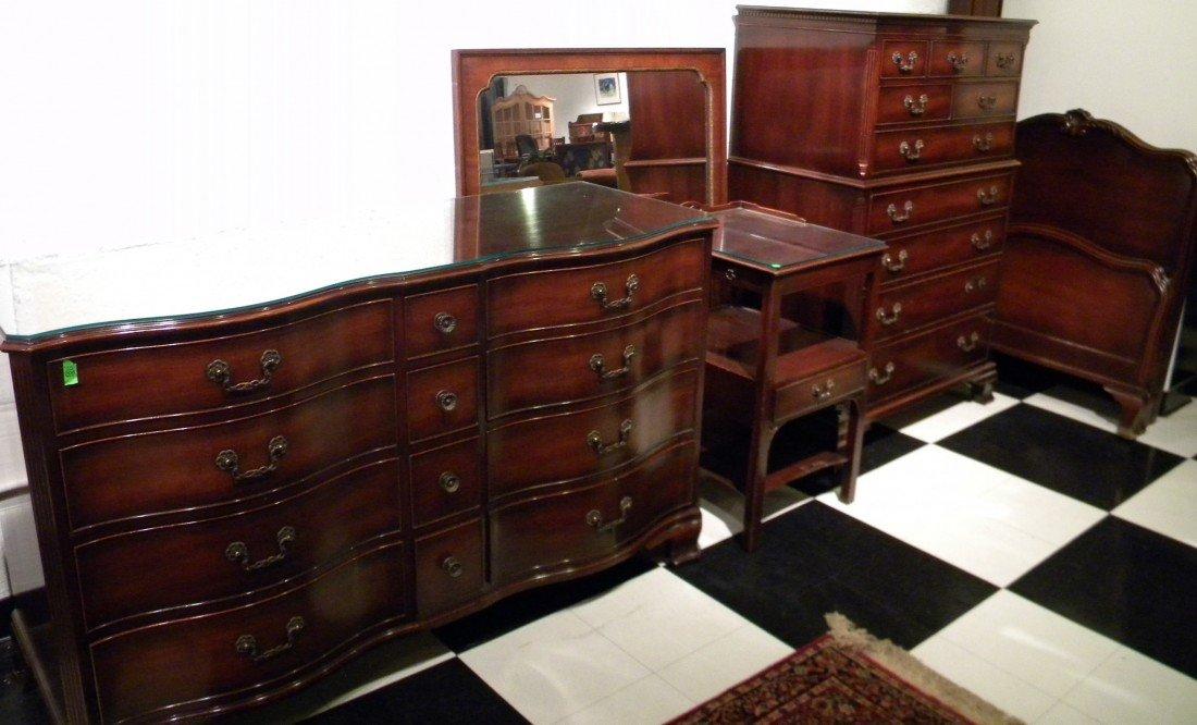 Attractive Kindel Furniture Co. Mahogany Bedroom Set