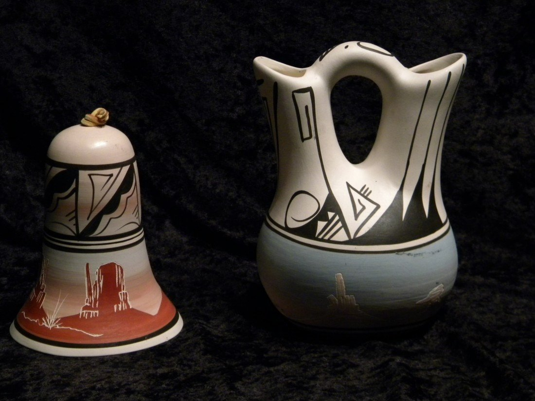 2 Native American Pottery Items