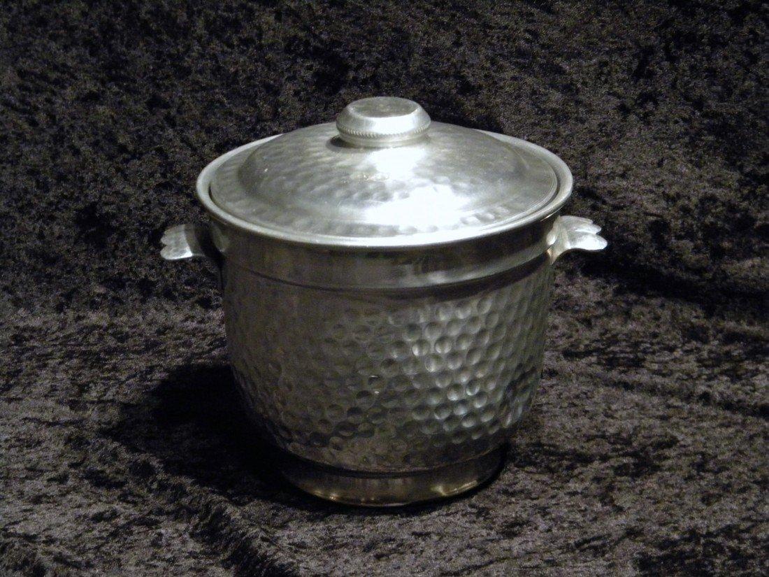 Nasco Italy Hammered Metal Ice Bucket