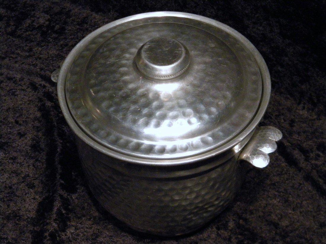 Nasco Italy Hammered Metal Ice Bucket - 2