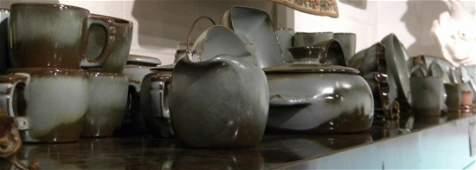 98 Pcs Vintage Frankoma Pottery Dinnerware  Rare Color
