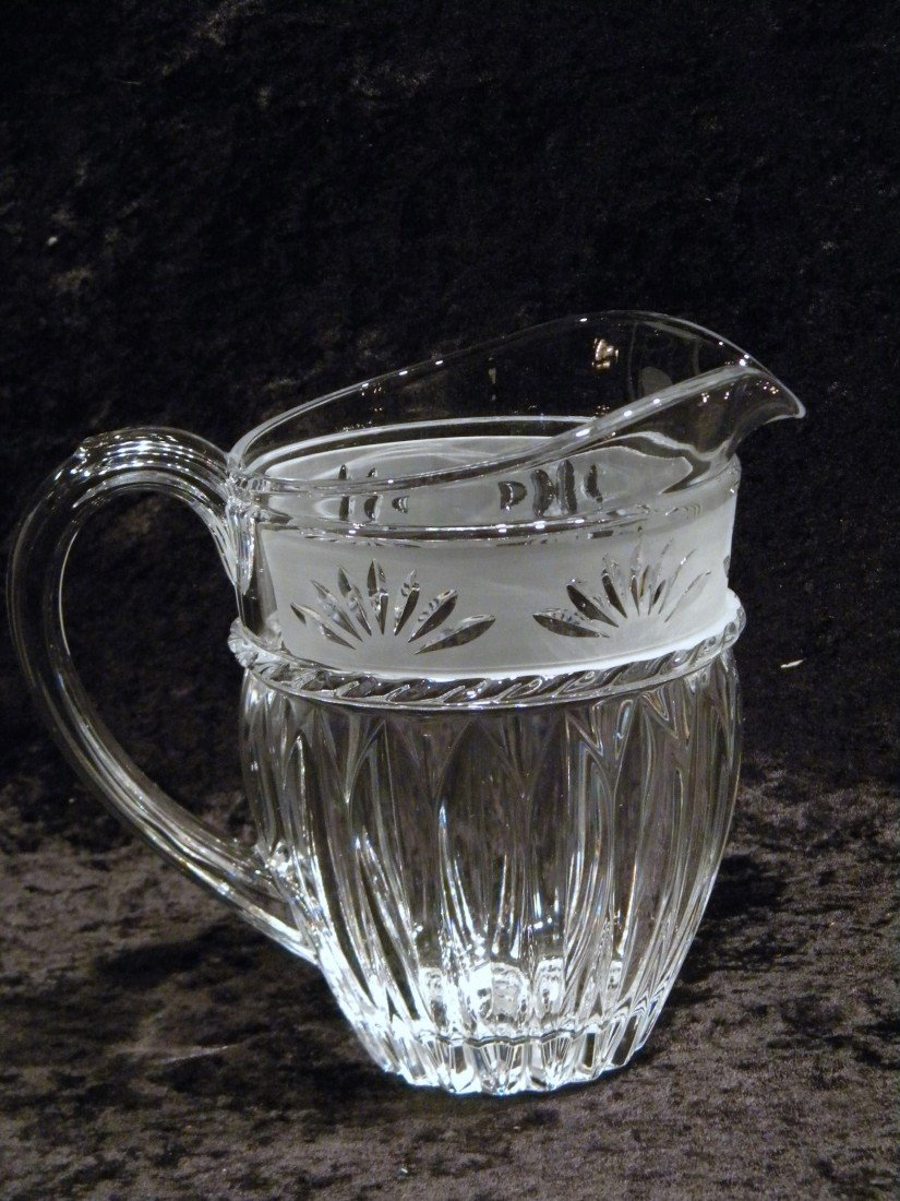 "Cristal d'Arques ""Carthage"" Pitcher"