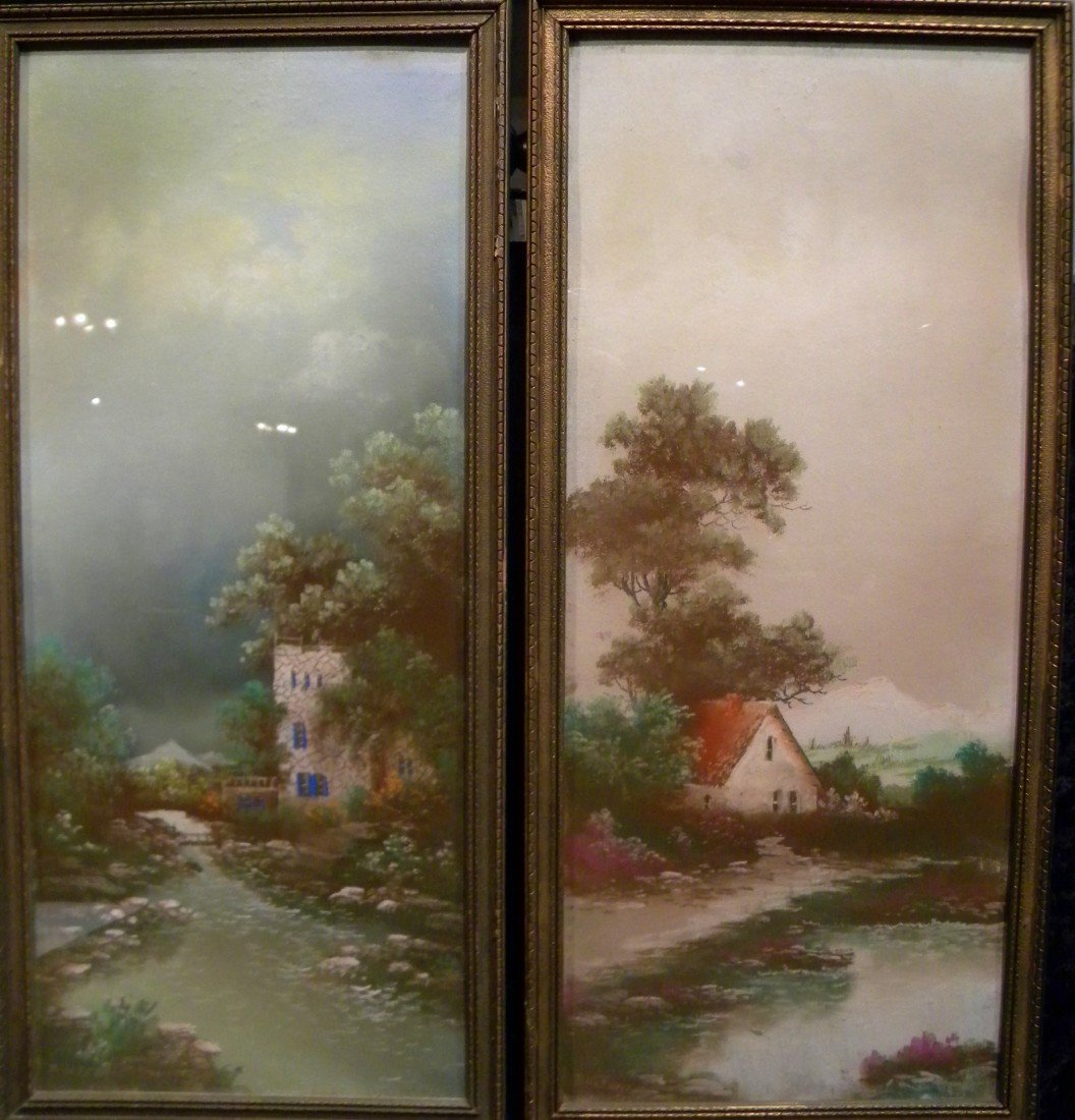 2 Framed Pastel Landscapes, Signed BOLTENA
