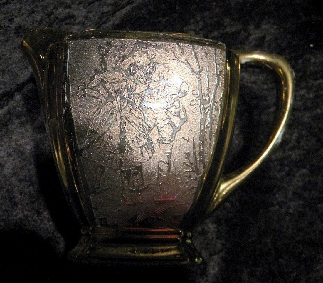 27 pc Arzberg Bavaria All-Over Gold Porcelain Teaset - 6