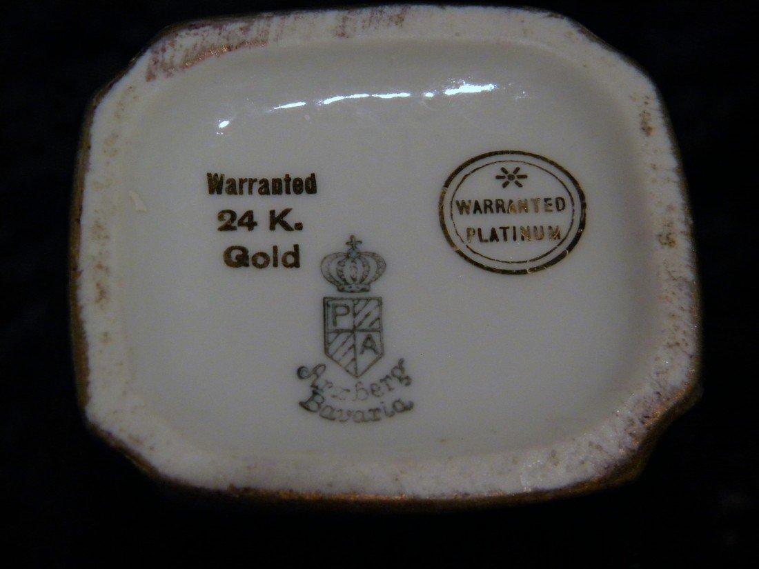27 pc Arzberg Bavaria All-Over Gold Porcelain Teaset - 7