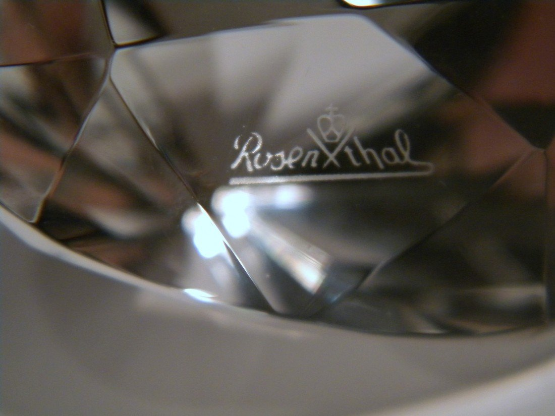 Murano Fish & Rosenthal Glass Diamond Paperweight - 4