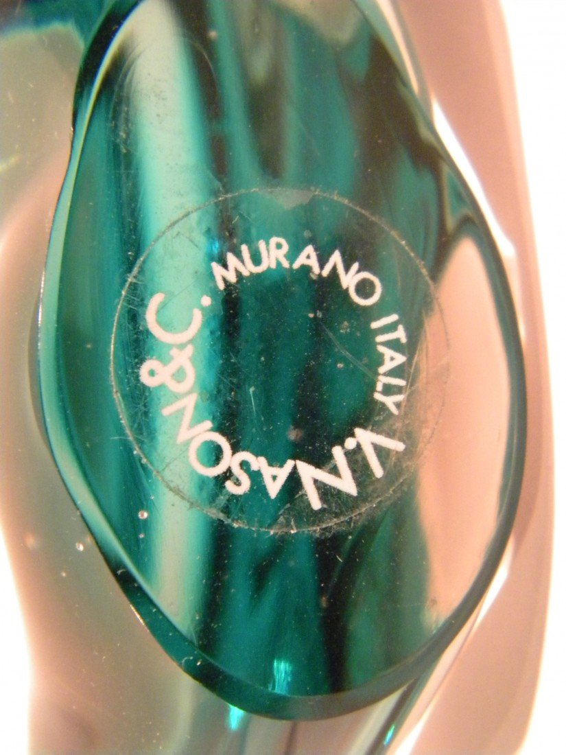 Murano Fish & Rosenthal Glass Diamond Paperweight - 6