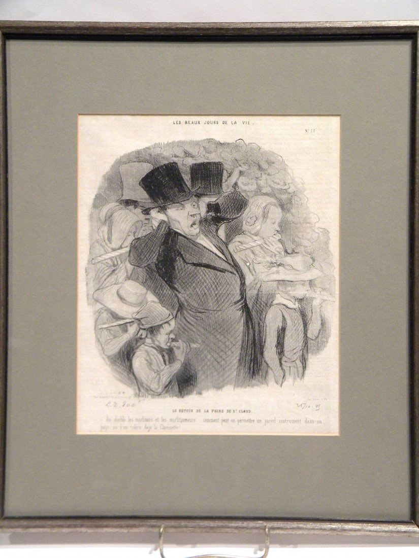 Framed French Lithograph by Honore Daumier