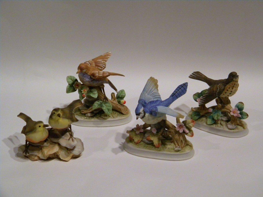 4 Royal Crown Porcelain Bird Figurines