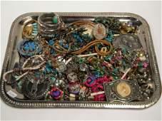 Large Lot of Costume Jewelry w/Southwestern styles