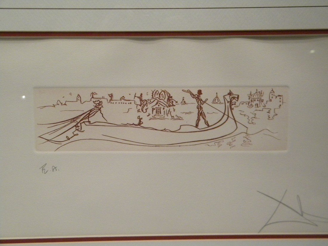 """Salvador Dali """"Visions of Venice"""" Etching on Buff Paper - 2"""