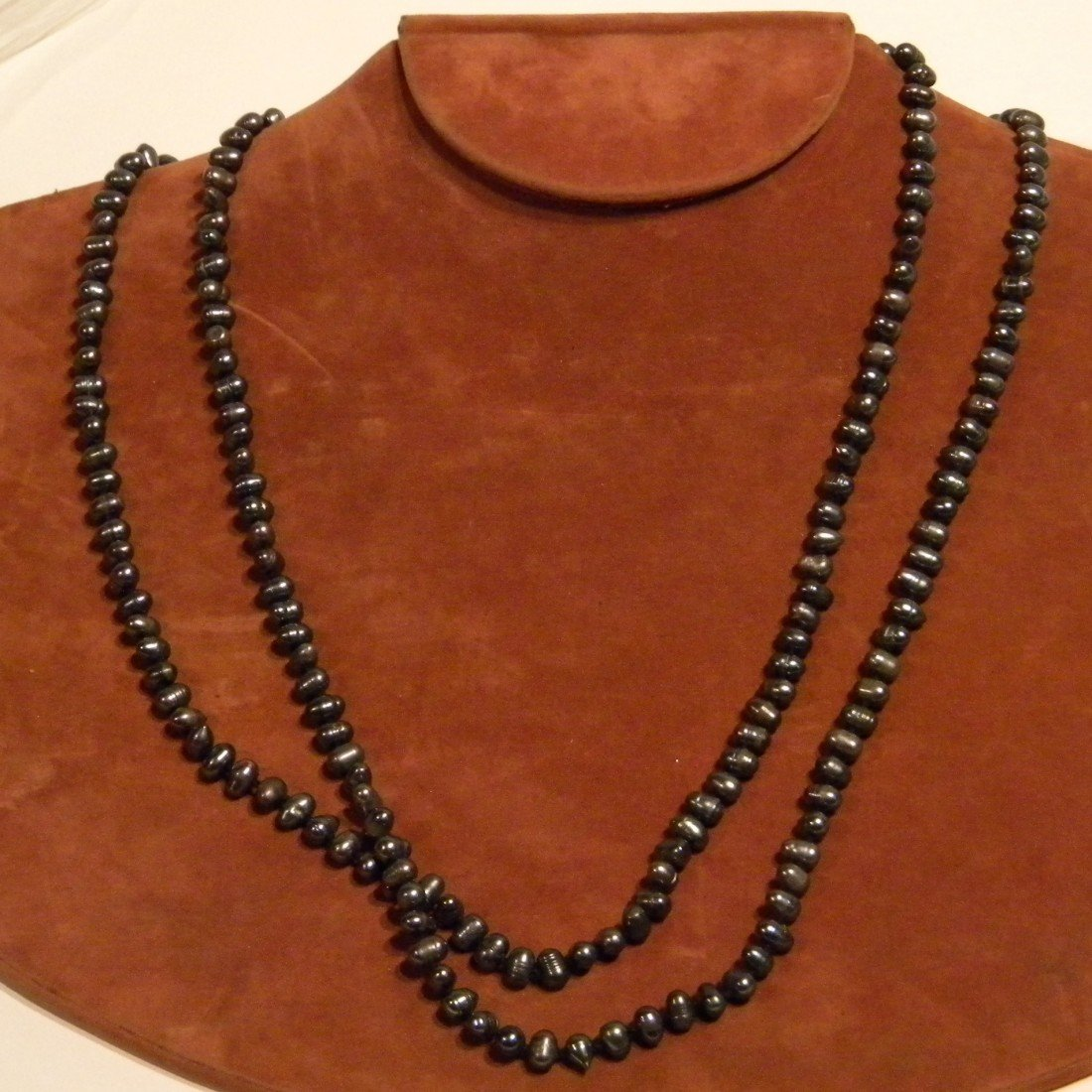 Black Cultured Strand of Pearls