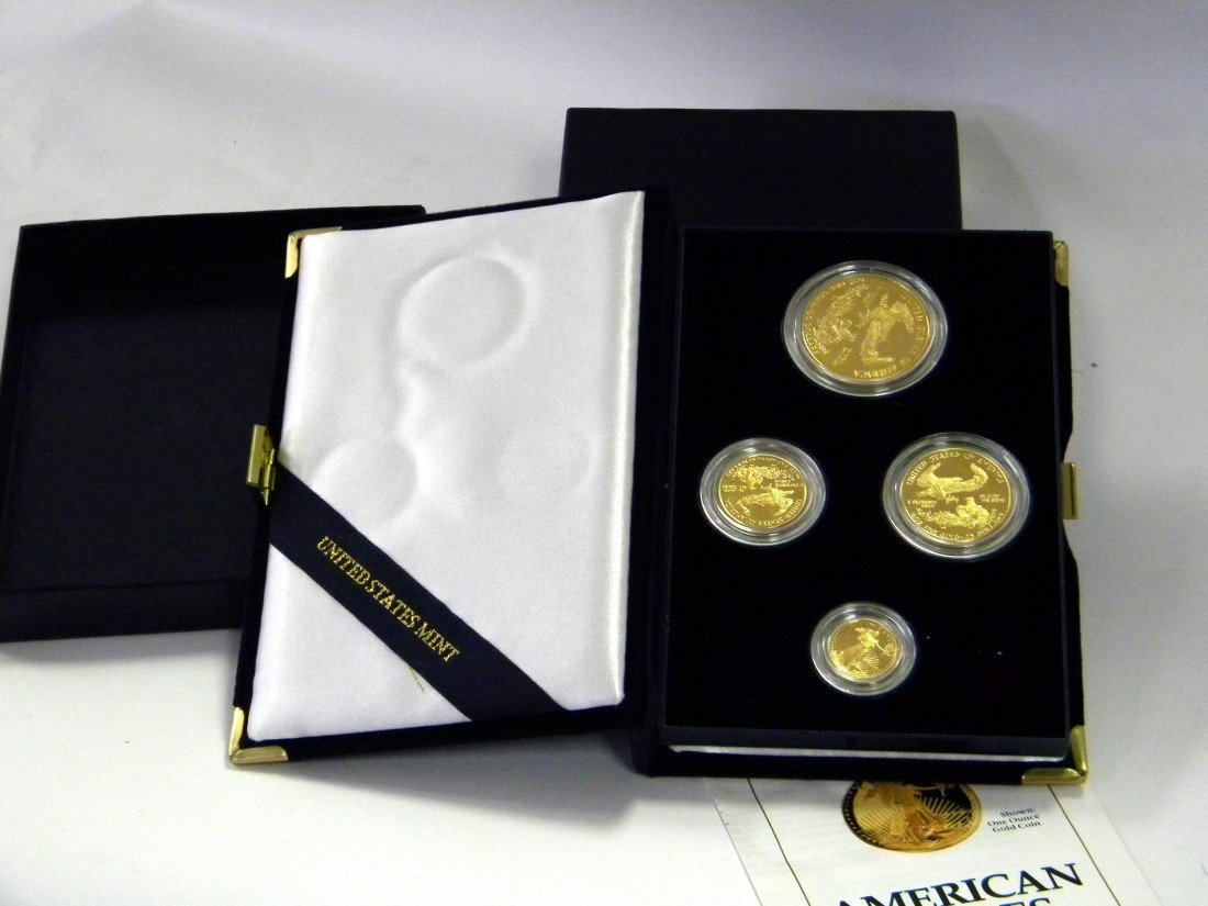 U.S. Mint 1991 Gold Bullion 4 Coin Proof Set (1.85 troy