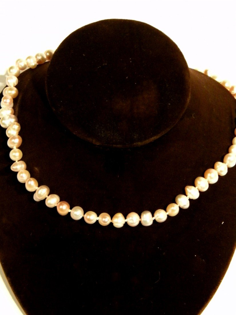 Pink Cultured Strand of Pearls