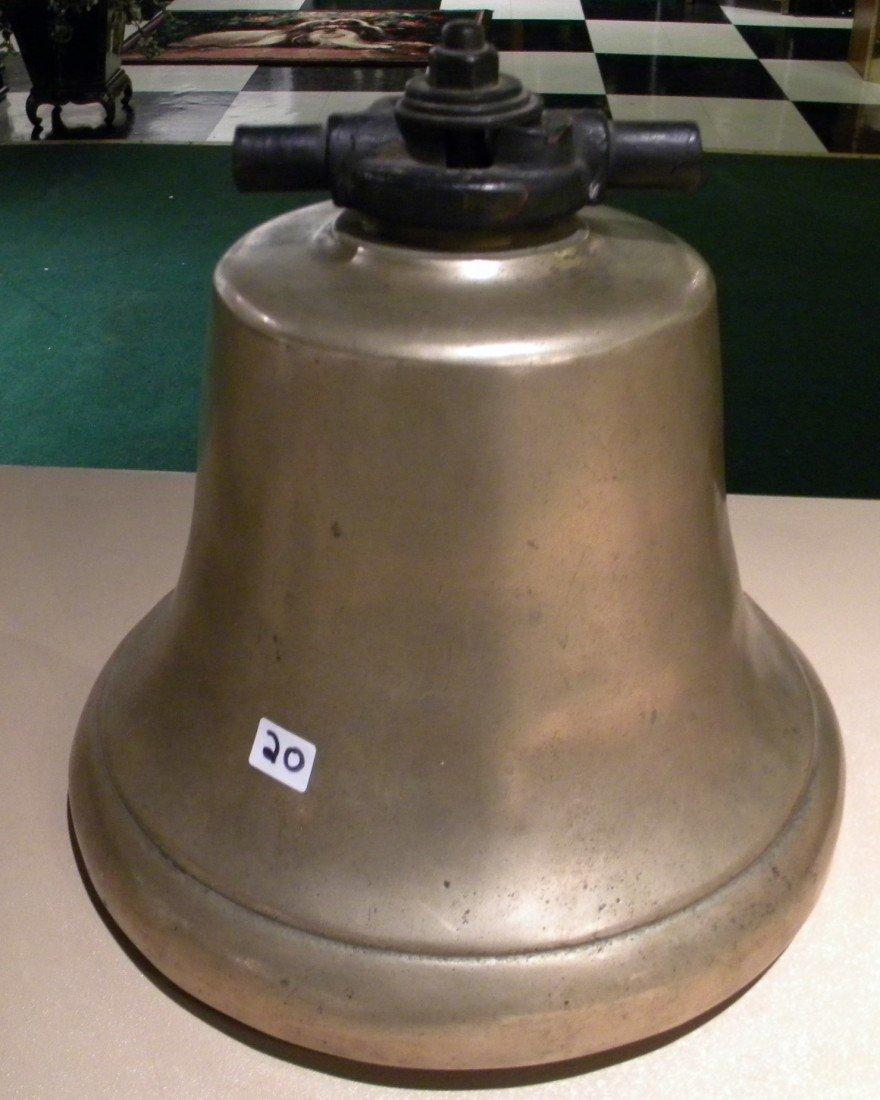 Heavy Brass Bell w/ Brass Clapper - 44 POUNDS