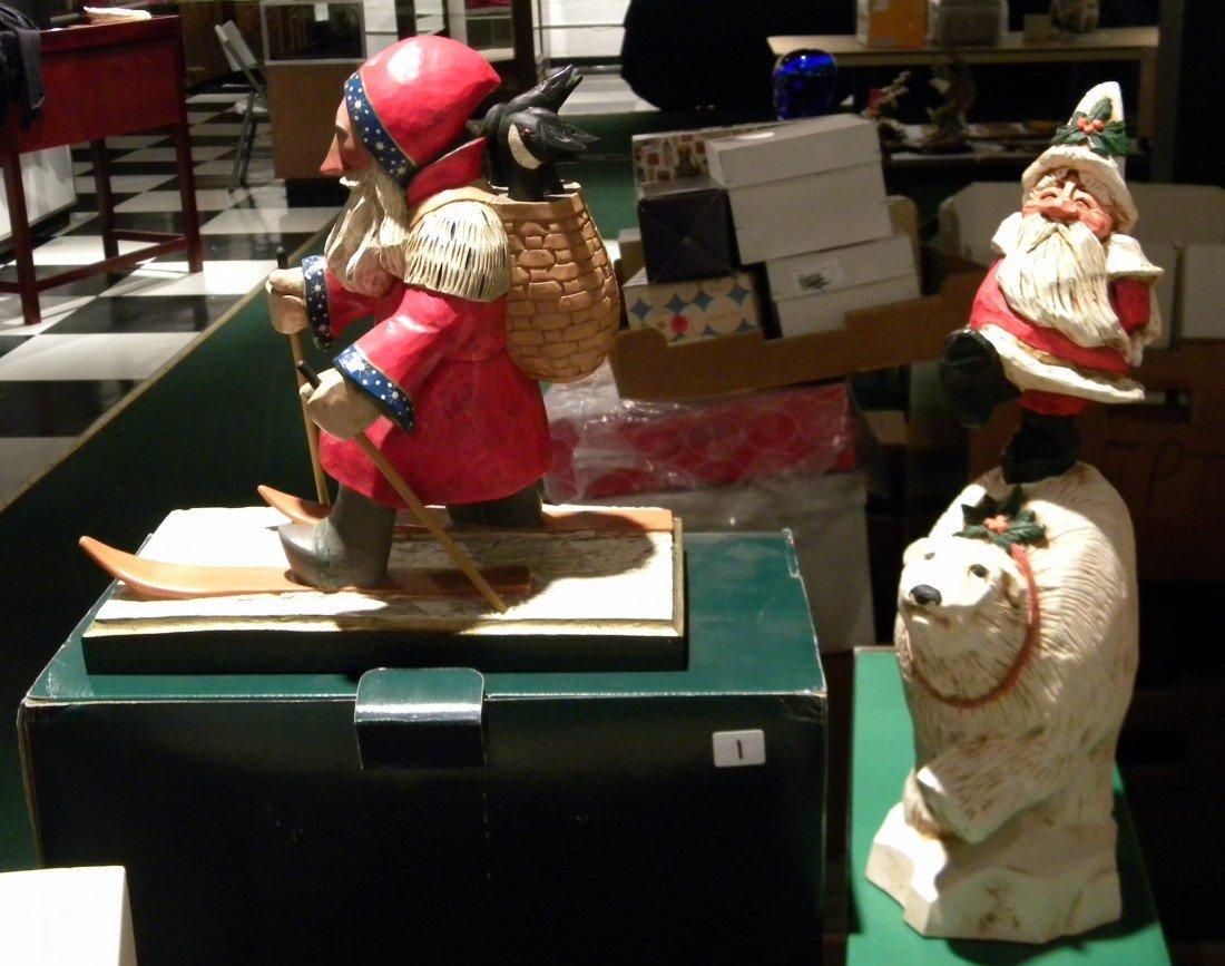 1 Pc Leo Smith & 1 David Frykman Santa Figures