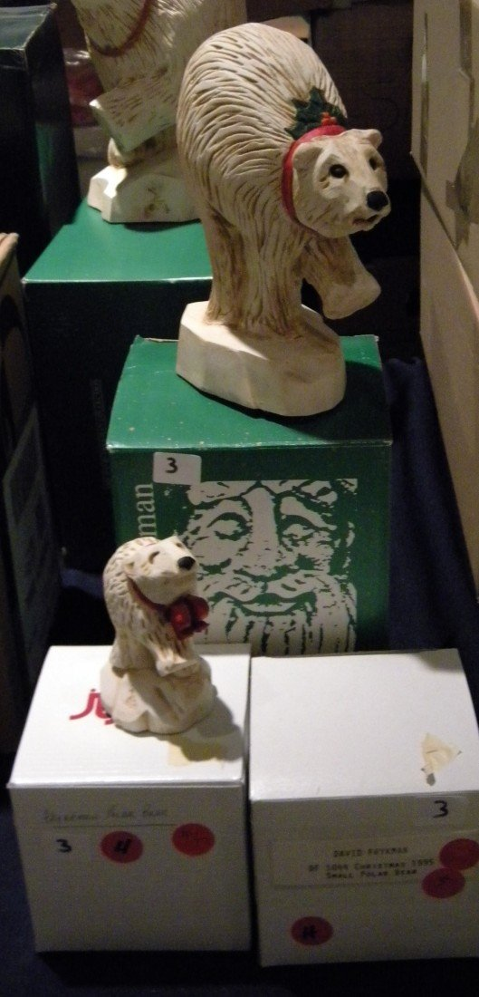 3 Pc David Frykman Polar Bear Figures