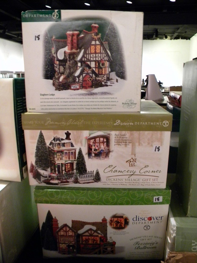 5 Dickens' Village & Dept 56 Holiday Silhouettes