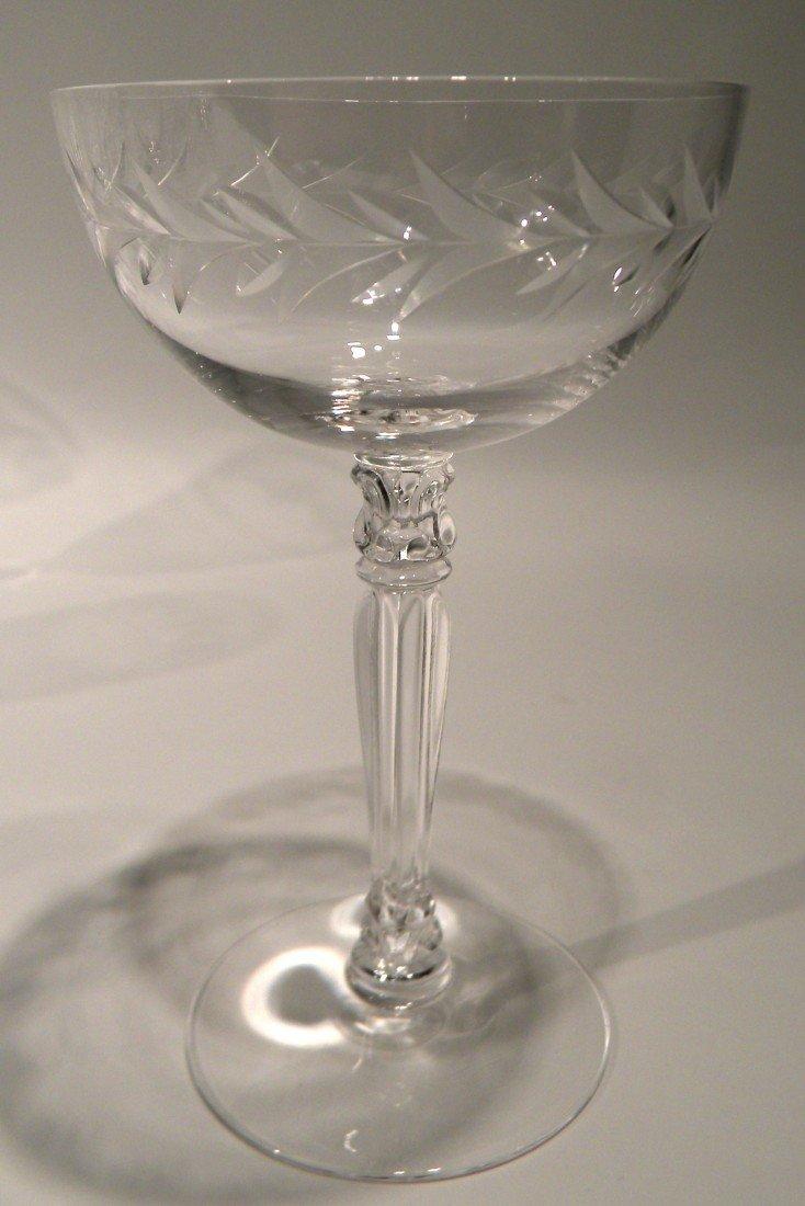 "43 Pc Fostoria Stemware ""Holly"" Pattern -Wine, Champagn - 3"