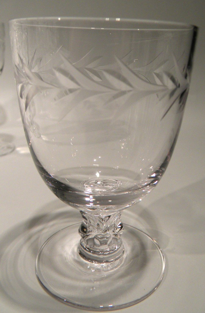 "43 Pc Fostoria Stemware ""Holly"" Pattern -Wine, Champagn - 6"