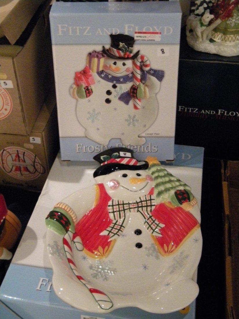 2 Fitz & Floyd Snowmen