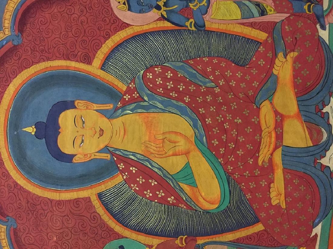 A THANGKA OF SAKYAMUNI , QING DYNASTY - 3