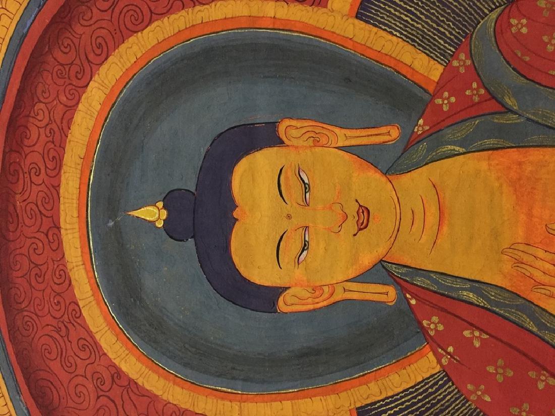A THANGKA OF SAKYAMUNI , QING DYNASTY - 4