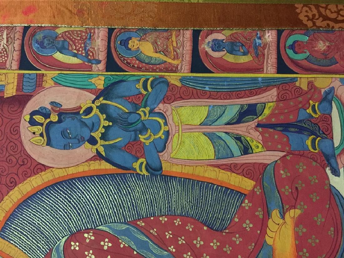 A THANGKA OF SAKYAMUNI , QING DYNASTY - 5
