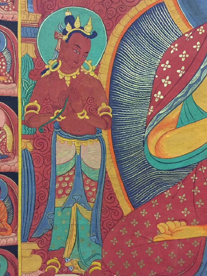 A THANGKA OF SAKYAMUNI , QING DYNASTY - 6