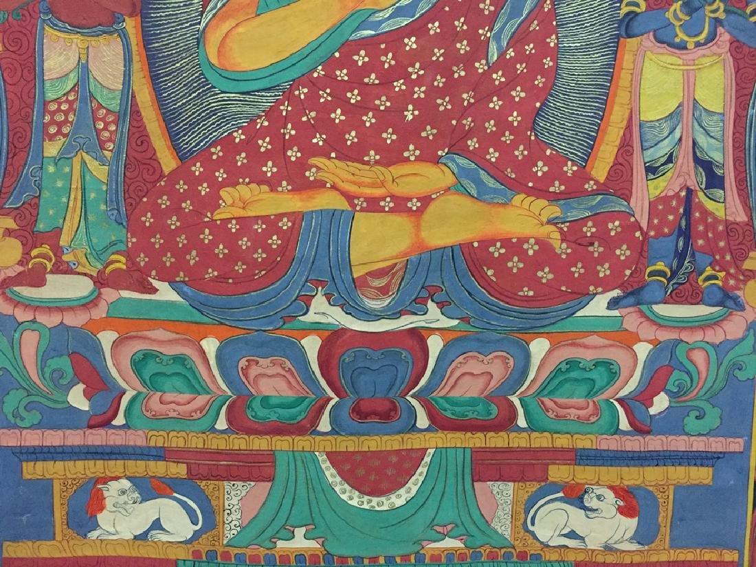 A THANGKA OF SAKYAMUNI , QING DYNASTY - 7