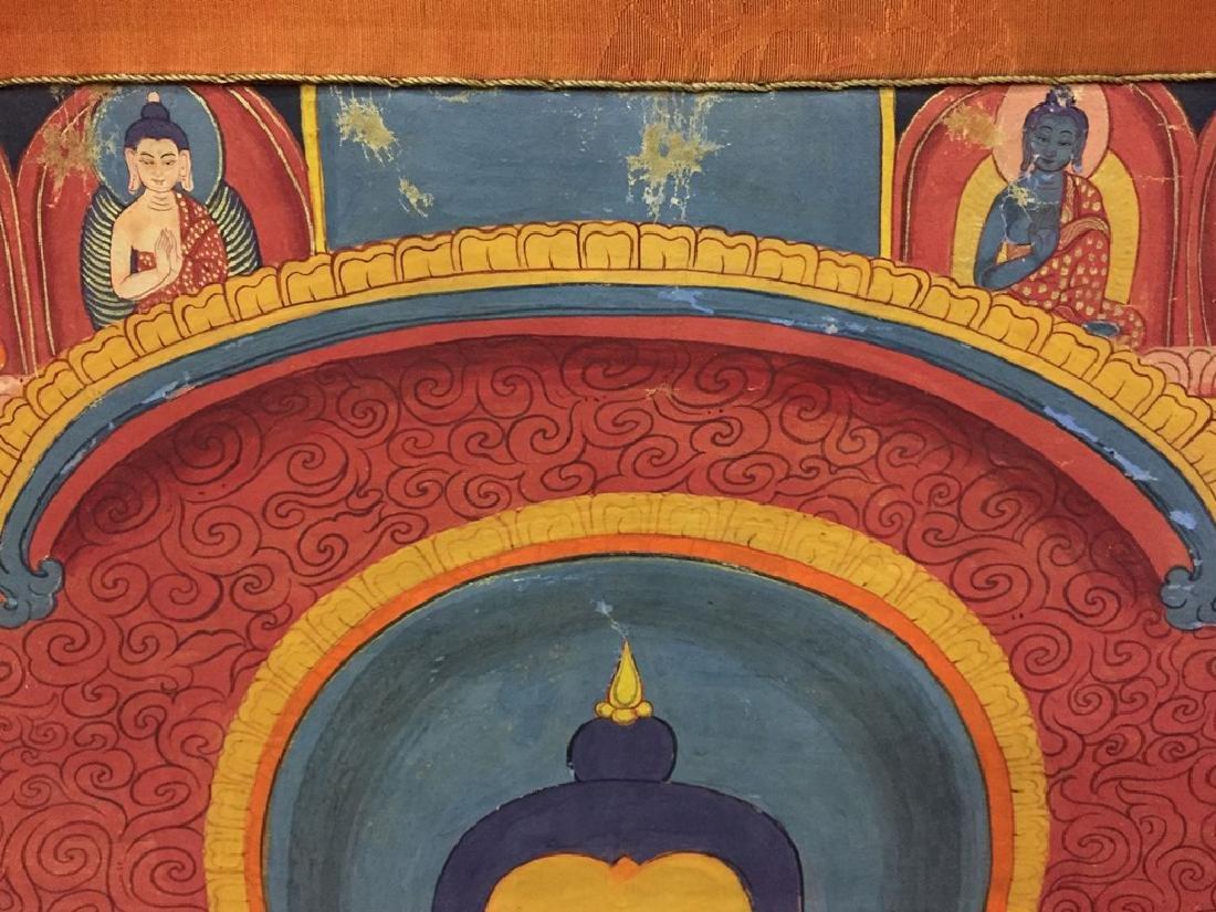 A THANGKA OF SAKYAMUNI , QING DYNASTY - 8
