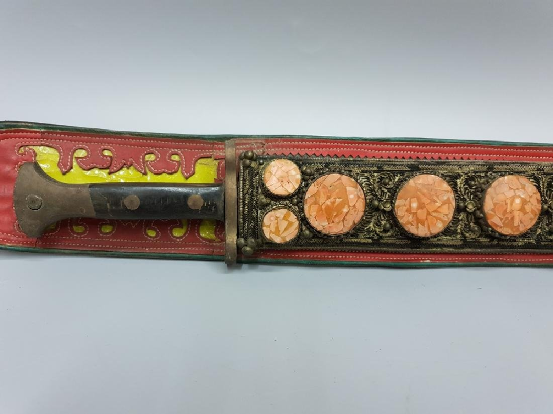 A TIBET SWORD WITH HOLDER - 4