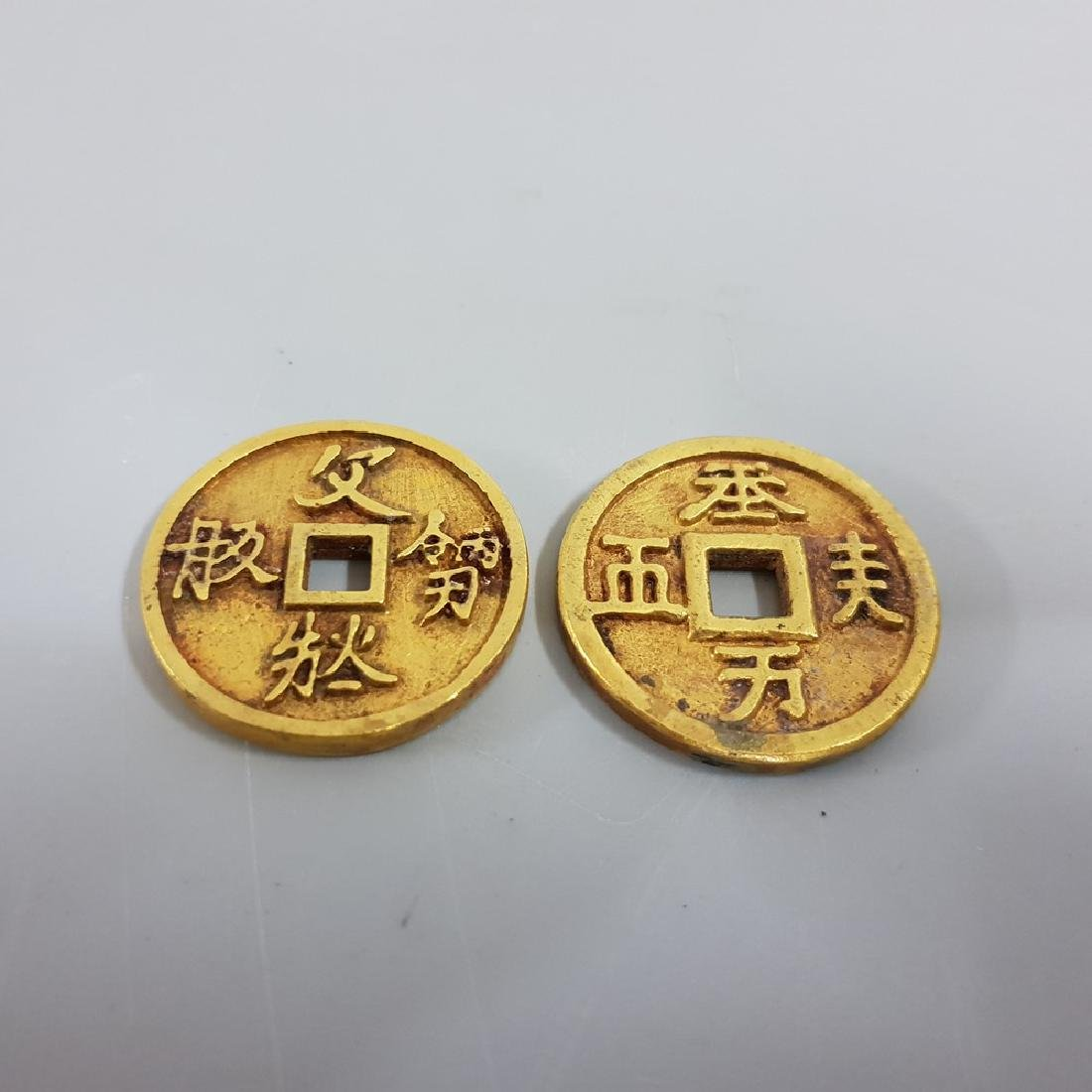 TWO OF GILT-GOLD COINS ,SONG PERIOD