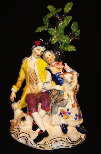 1: A Meissen Porcelain figural modeled