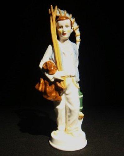 13: Rare Meissen porcelain figural of a farmer